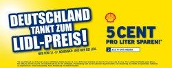 [LOKAL] 5ct pro Liter sparen durch Lidl Gutschein