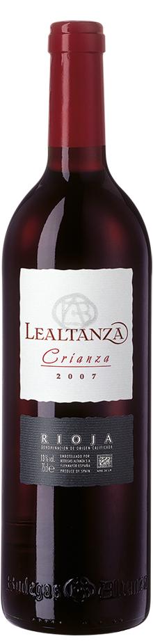6 Flaschen Spanischer Rotwein: Lealtanza Crianza Rioja D.O.Ca. von 2007 für 32,70€