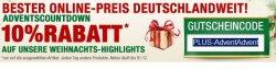 Advents-Countdown bei plus.de,10% Rabatt mit Code – Jeden Tag neue Deals
