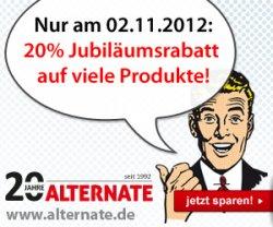 Alternate: 20% Jubiläumsrabatt auf verschiedene Produkte/Hersteller nur am 2.11