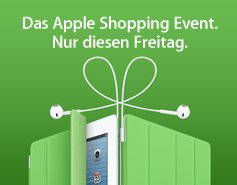 "Apple ""Black Friday"" am 23.11.2012 Online und im Apple-Store"