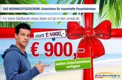 """Bei """"ab in den Urlaub.de"""" bis zu 100 Euro beim sparen"""