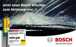 Bosch Scheibenwischer für 14,99€ inkl. Montage, bis 50% sparen bei Carglass