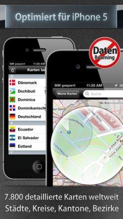City Maps 2Go, App für iPhone und iPad, KOSTENLOS @ iTunes