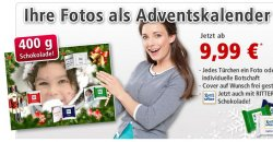 40 Prozent Rabatt auf gefüllte Adventskalender mit eigenem Foto, Aktion von ComputerBild mit PosterXXL.de