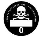 Feinstaubplakette Schadstofstark und Leistungsarm für 2,49€ + Versand 2,50€