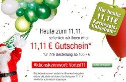 Galeria Kaufhof schenkt Euch 11,11€ – nur heute am 11.11. bei einem MBW von 100€