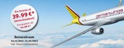 German Wings & Rewe, Flüge für 39,99 € (deutschlandweit) oder 44,99 € (europaweit)