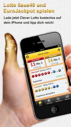 """Gratis Lotto App jetzt testen mit Geld-zurück Garantie (für den Spieleinsatz) bei """"Nichtgewinn"""""""