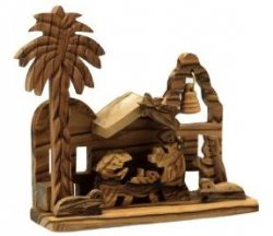 Handgearbeitetes Krippenhaus aus Olivenholz für 6,02 inkl. Versand @Amazon
