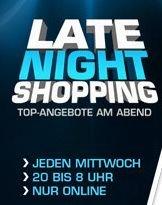 Heute wieder LATE NIGHT SHOPPING @Saturn.de von 20:00 bis Do. 8:00 Uhr!