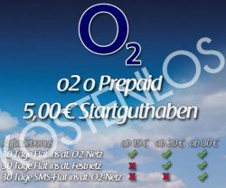 Kostenlose o2 Prepaidkarte mit 5 € Startguthaben & Aufladebonus bei jeder Aufladung @eBay