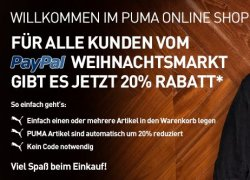 Neuer 20% Puma-Gutschein auf ALLES – nur bis zum 21. Dezember 2012