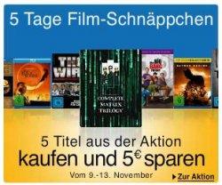Noch bis Dienstag bei Amazon: 5 Tage Film-Schnäppchen Aktion