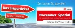 November-Spezial: Hin- und Rückfahrt für 55 Euro für 1 Person, auch im ICE (Update: ab 12.11)