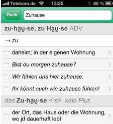 Pons Online-Wörterbuch als App für iOS- und Android-Geräte zum kostenlos Download bereit.