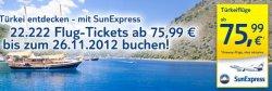 TUIfly bietet bis 26.11.12 Flugschnäppchen in die Türkei ab 75,99 Euro
