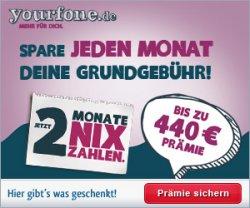 yourfone ALLNET Flat – 24 Monate keine Grundgebühr bezahlen dank bis zu 440 Euro Cashback
