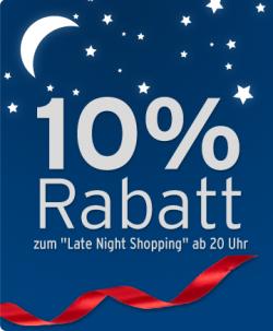 10% + 5€ Gutschein beim Tchibo Late Night Shopping, heute ab 20 Uhr!