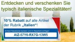 """10% Rabatt auf alle Artikel der Rubrik """"Italien"""" bei real"""