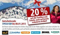 20% bei Fritz-Berger.de auf Textilien,Schuhe & auch schon reduzierte Artikel