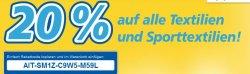 20% Gutschein auf alle Textilien und Sporttextilien – Online bei real.de
