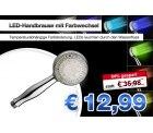9-LED-Handbrause Duschkopf mit Farbwechsel für 12,99€ statt 35,98€