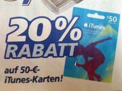 50€ iTunes Guthaben für 40€ bei real