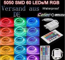 5 oder 10 Meter LED-Streifen mit Fernbedienung ab € 11,99 inkl. Versand @eBay