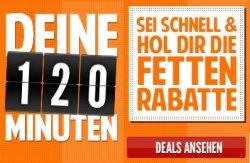 DEINE 120 MINUTEN – Alle 2 Stunden 2 rabattierte Angebote @notebooksbilliger.de