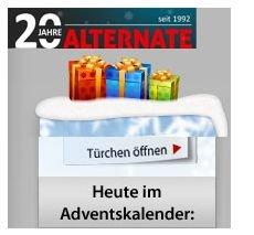 Alternate Adventskalender – jeden Tag im Advent gibt es ein spezielles Angebot