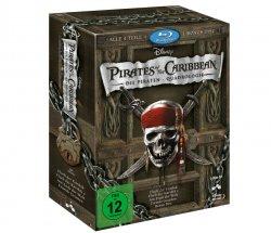 """Fluch der Karibik """"Die Piraten-Quadrologie"""" (5 Blu-rays) für nur 26,99 Euro @Amazon"""