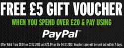 Gratis 5£ Geschenkgutschein bei Einkauf ab 20£ bei Zavvi.com
