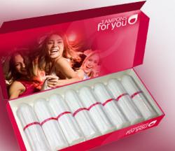 """Jeden Monat Tampons gratis dank Sponsor bei """"Tampons for you"""""""