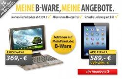 26 neue B-Ware-Angebote bei MeinPaket.de, versandkostenfrei