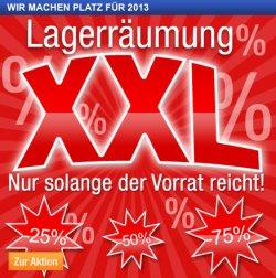 Lagerräumung XXL zum Jahreswechsel auf plus.de mit Rabatten bis zu 75%