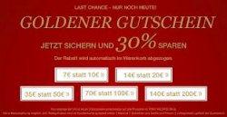 Lastminute-Geschenk: Tom Tailor – 30% Rabatt auf Geschenkgutscheine