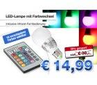 LED-Lampe mit 16-Farbwechsel und Fernbedienung für 14,99€ statt 30€