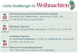Hinweis: Letzte Bestellung für Weihnachten bei Amazon bis 24.12 6 Uhr!