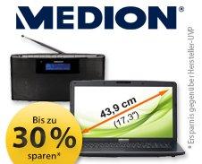 Medion Sale mit bis zu 30% Rabatt auf meinpaket.de