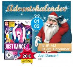 [Lokal] Müller-Adventskalender (z.B. Just Dance 4 für 20 €, AMAZON zieht mit)