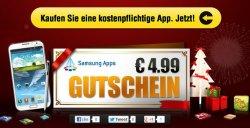 Samsung App Store: Gutschein im Wert von 4,99€ beim Kauf einer kostenpflichtigen App
