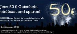 Silvester Aktion: 50€ Gutschein im MedionShop