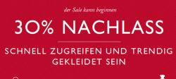Tommy Hilfiger Sale 30% zzgl. 10% Gutschein nach Newsletter-Anmeldung