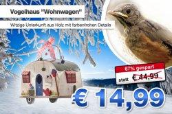 """Vogelhaus """"Wohnwagen"""" für 14,99€ statt 21,90€"""