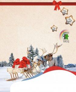 Weihnachtskarte GRATIS verschicken und dabei noch 25€ an die KinderKrebs-Stiftung spenden