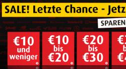 10 € oder 10% Gutscheincode + 20% Sale-Aktion bei MandMdirect