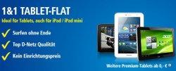 1&1 Tablet-Flat: 2GB 21.600 kBit/s Internet-Flat + Galaxy Tab2 (7.0 oder 10.1) bei 0€ Zuzahlung für 29,90€/Monat
