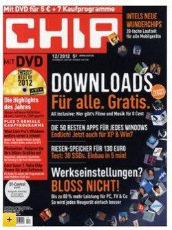 """13 Ausgaben """"CHIP mit DVD"""" für effektive 14,88 Euro statt 59,88€"""