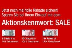 5 €, 10 € oder 15 € Gutschein für Galeria-Kaufhof.de